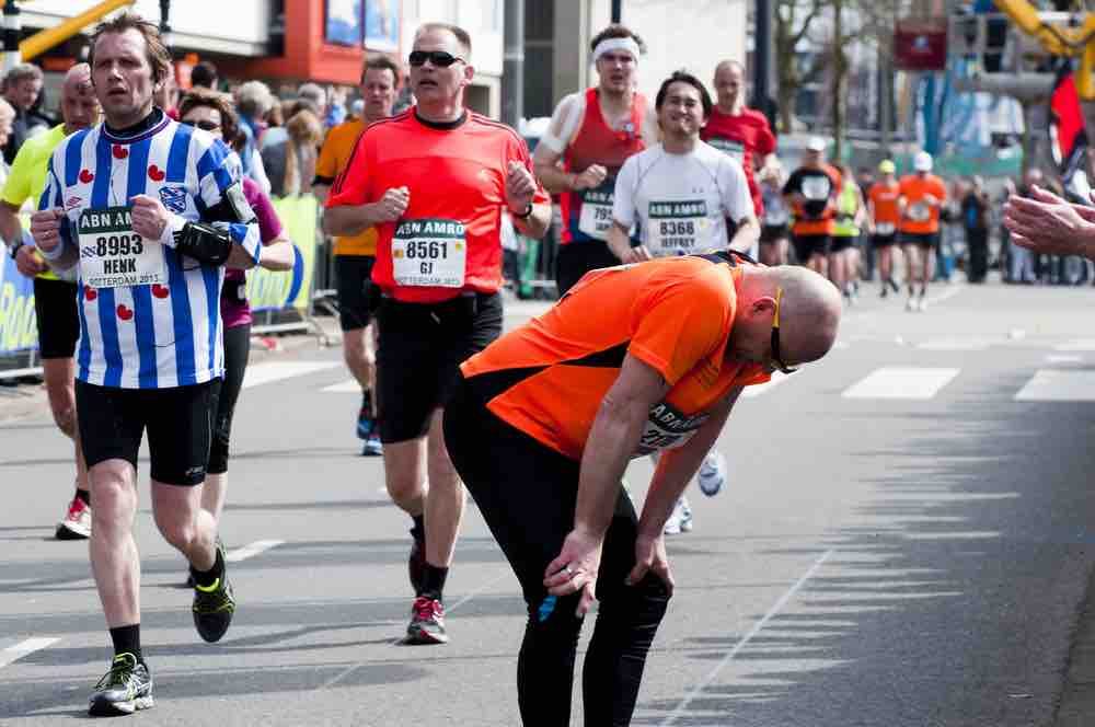 Picture of Man Running Marathon