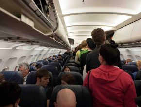 Picture of airline passengers